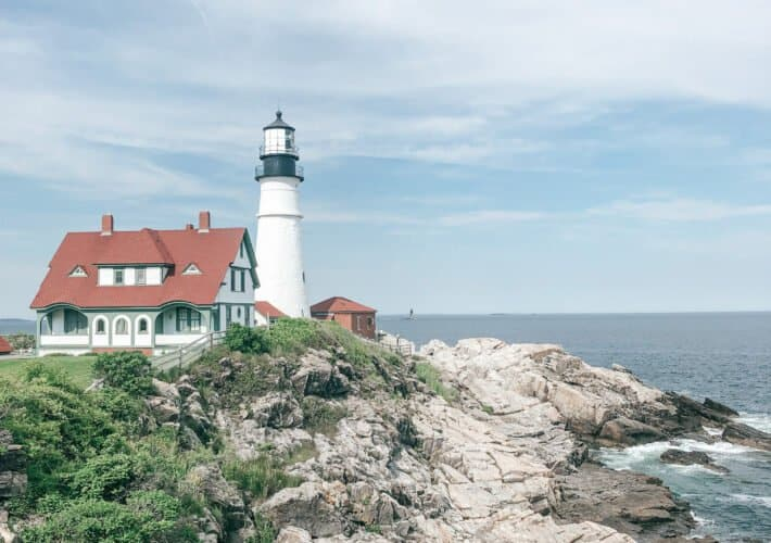 Portland head light for road trip itinerary